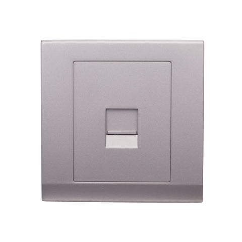 Simplicity Single BT Slave Telephone Socket Mid Grey