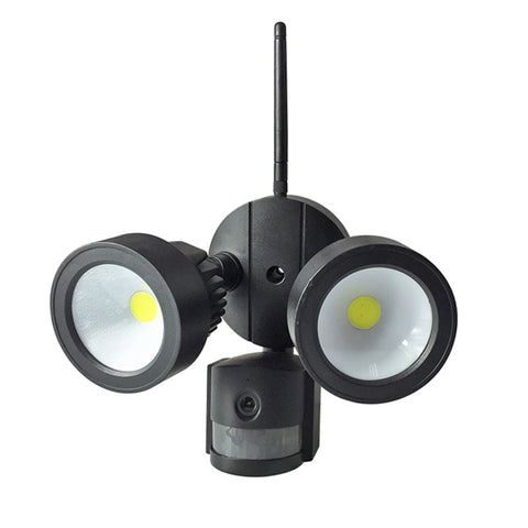 Wifi Outdoor Twin PIR LED Floodlight & Security Camera with 2 way audio (Black body)