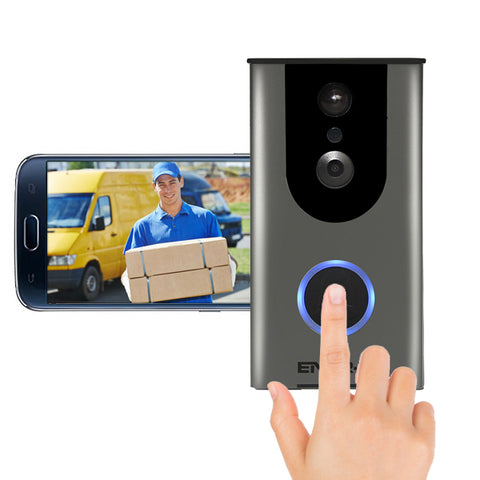 Wireless Video Door Bell With 16GB TF Card Included - Night Vision And 2 Way Audio