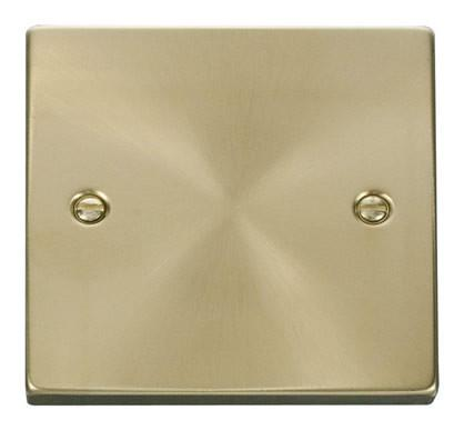 Satin Brass 1 Gang Blank Plate