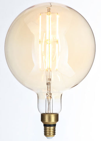 LARGE Vintage G180 Amber Dimmable LED E27 Vintage Filament Lamp (Light Bulb) 2000K