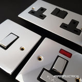 Polished Chrome 4 Gang 2 Way 400w Dimmer Light Switch