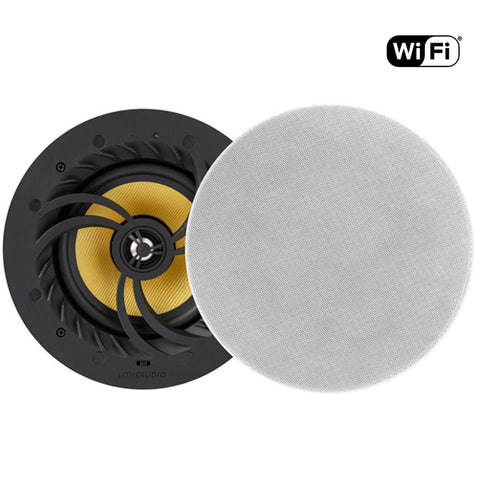 "Lithe Audio 6.5"" Multi Room WiFi Ceiling Speakers (PAIR - MASTER & PASSIVE)"