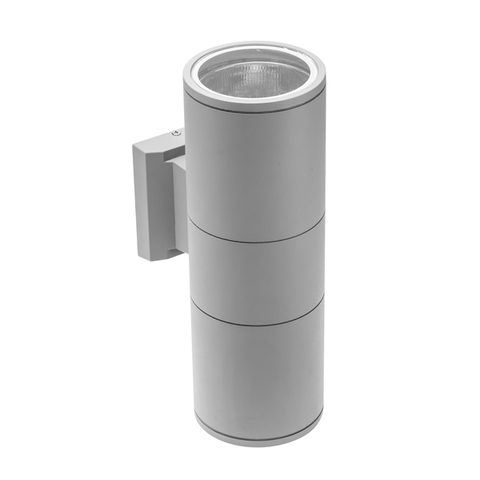 Baleo E27 Twin Grey Wall Light