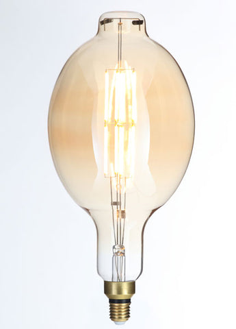 LARGE Vintage A165 Amber Dimmable LED E27 Vintage Filament Lamp (Light Bulb) 2000K