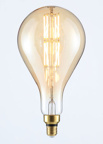 LARGE Vintage BT180 Amber Dimmable LED E27 Vintage Filament Lamp (Light Bulb) 2000K