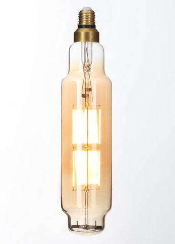 LARGE Vintage T80 Amber Dimmable LED E27 Filament Lamp (Light Bulb) 2000K