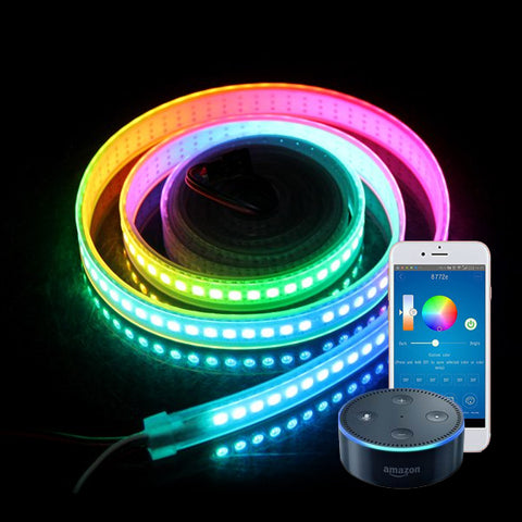 Smart WiFi RGB LED Tape Kit (5 meter IP65 tape, WiFi+IR controller & PS)
