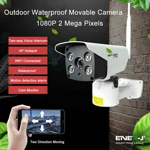 Movable Outdoor Wireless WiFi Premium IP Camera, PTZ, 2 way audio and motion sensor