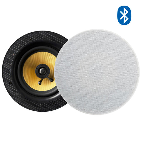 "Lithe Audio 6.5"" Wireless Bluetooth Ceiling Speaker (PAIR - MASTER & SLAVE)"