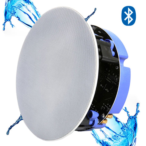 "Lithe Audio 6.5"" IP44 Waterproof Wireless Bluetooth Ceiling Speaker (BATHROOM SINGLE - MASTER)"