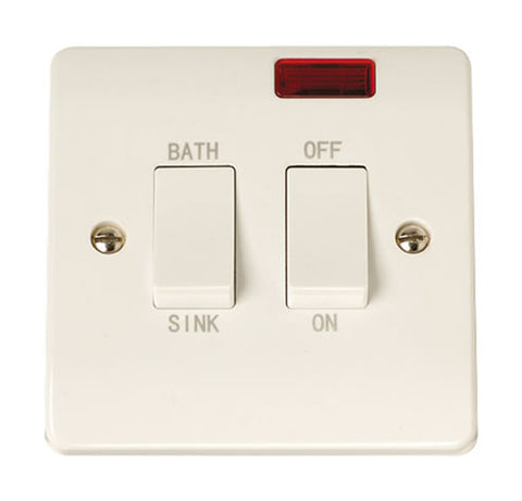 20A DP Sink Bath Switch With Neon