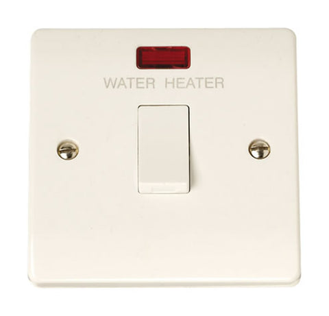 20A DP Water Heater Switch With Neon