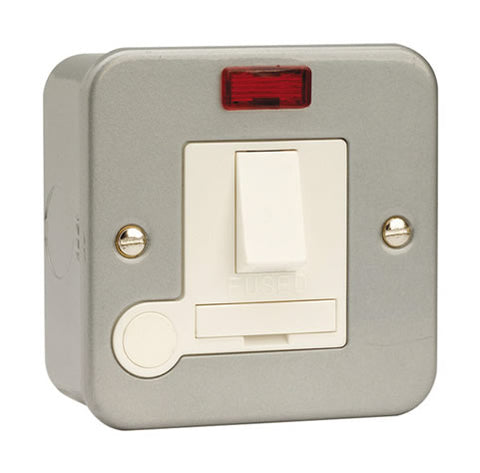 13A Fused Connection Unit DP Switched With Neon And Optional Flex Outlet