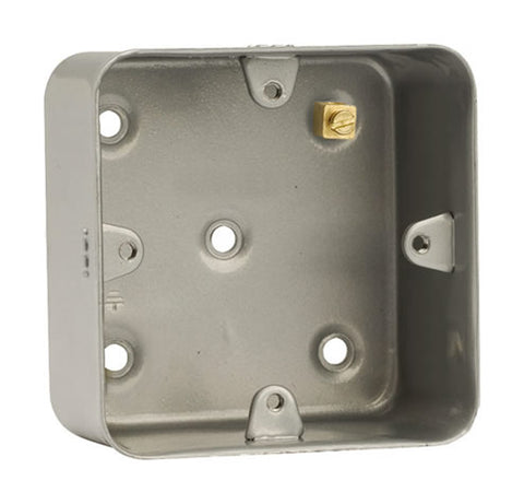 1 Gang Mounting Box (as Cl083 But Without Knockouts)