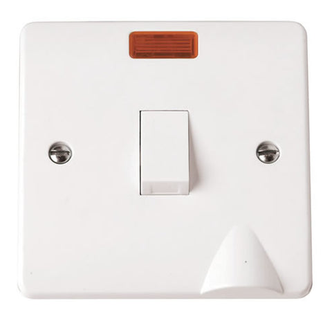White 20A DP Switch With Neon