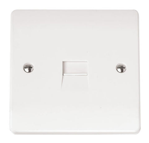White Single Telephone Outlet - Master