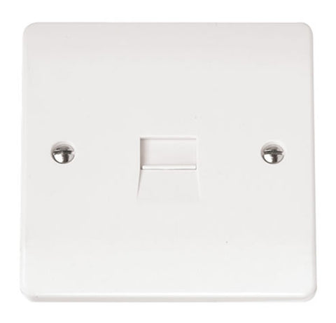 White Single Telephone Outlet - Secondary
