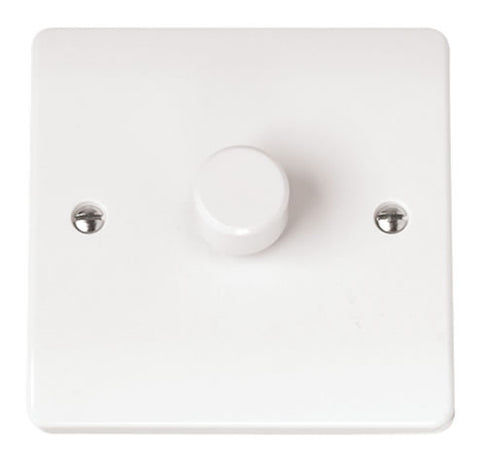 White 1 Gang 2 Way 400va Dimmer Switch