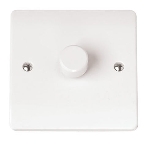 White 1 Gang 2 Way 250va Dimmer Switch
