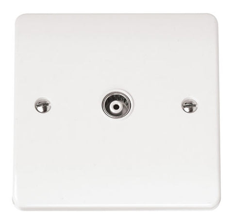 White Single Isolated Coaxial Plate