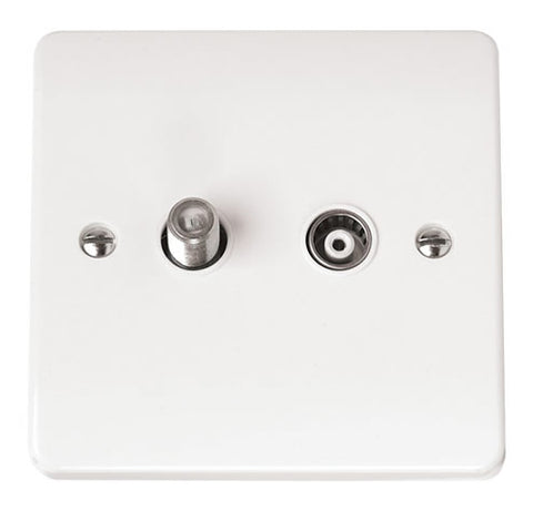 White Non-isolated Satellite And Coaxial Plate