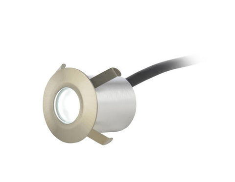 Brushed Steel Culina Single Circular LED Plinth Light 0.5W 6000K IP65