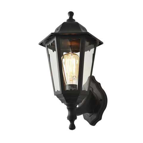 Black Coast Bianca Polycarbonate E27 Up or Down Lantern -  IP44