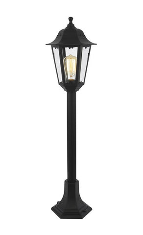 Black Coast Bianca Polycarbonate E27 Tall Post Lantern -  IP44