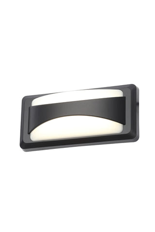 Poole LED Up - Down Wall Light Black