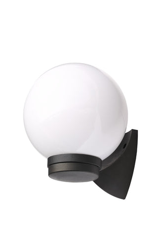 Coast York Globe Wall Lantern Black