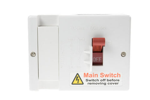 80a Fused (100a Max) Main Switch (lockable)