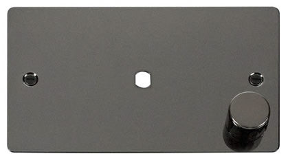 Flat Plate Black Nickel 2 Gang Plate 1 Module (630w Or 1000w) - Black