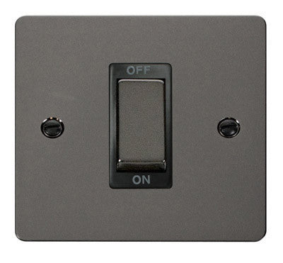 Flat Plate Black Nickel Ingot 1 Gang 45A DP Switch - Black