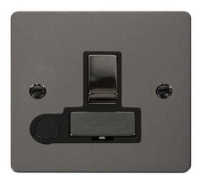 Flat Plate Black Nickel Ingot 13A Switched Connection Unit  + Flex - Black