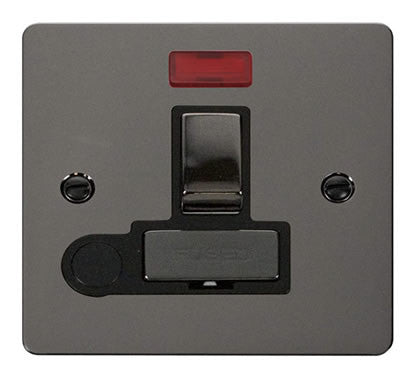 Flat Plate Black Nickel Ingot 13A Switched Connection Unit  + Flex + Neon - Black