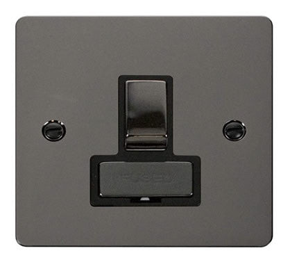 Flat Plate Black Nickel Ingot 13A Switched Connection Unit   - Black