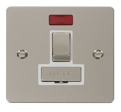 Flat Plate Pearl Nickel Ingot 13A Switched Connection Unit  + Neon  - White