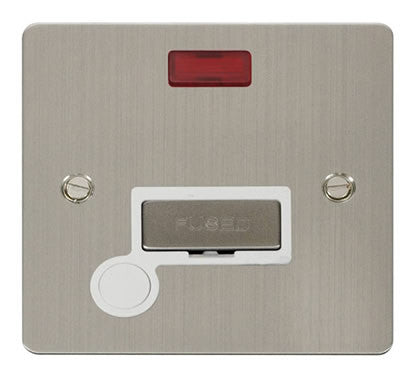 Flat Plate Stainless Steel Ingot 13A Connection Unit  + Flex + Neon - White