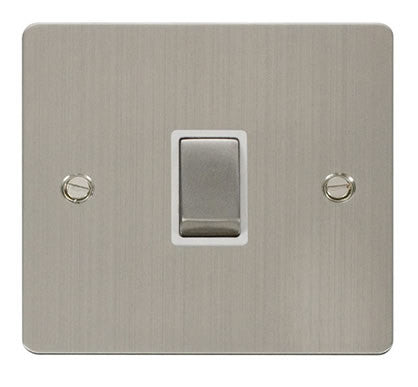 Flat Plate Stainless Steel Ingot 20A 1 Gang DP Switch   - White