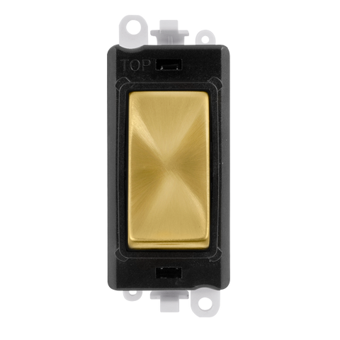 Gridpro 20A Intermediate Light Switch Module - Black Trim