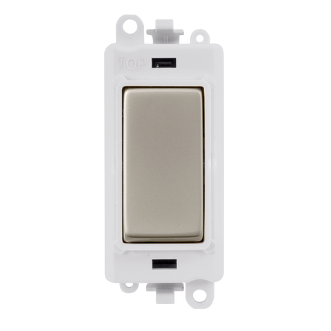 Gridpro Pearl Nickel 20A 2 Way Light Switch Module