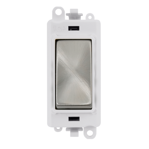 Gridpro Satin Chrome 20A 2 Way Retractive Light Switch Module