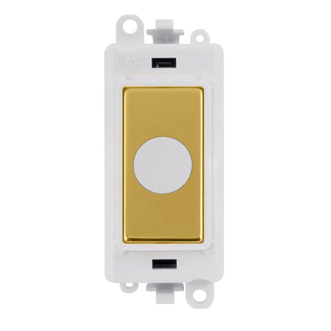 Gridpro Polished Brass 20A Flex Outlet Module