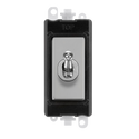 Gridpro Polished Chrome 20A 2 Way Toggle Light Switch Module - Black Trim