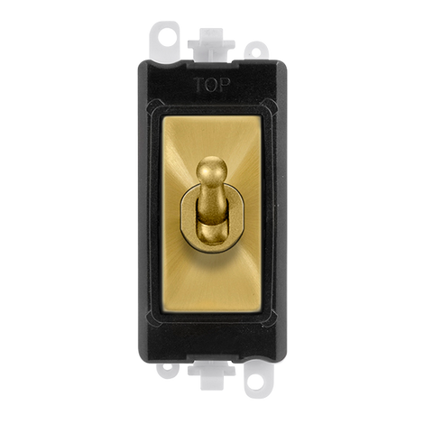 Gridpro 20A 2 Way Toggle Light Switch Module - Black Trim