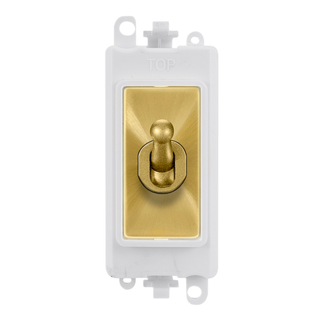 Gridpro 20A Intermediate Toggle Light Switch Module - White Trim