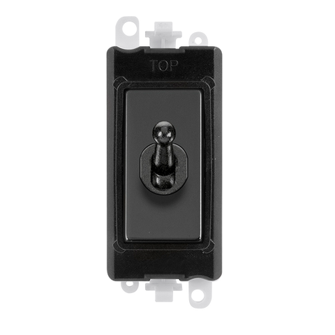 Gridpro Black Nickel 20A Intermediate Toggle Light Switch Module - Black Trim