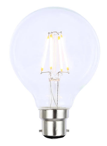 Vintage G80 BC Tinted Dimmable LED Filament Lamp (Light Bulb) 2200K