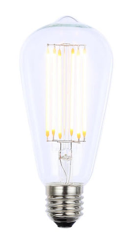Vintage ST64 ES Clear Dimmable LED Filament Lamp (Light Bulb) 2200K